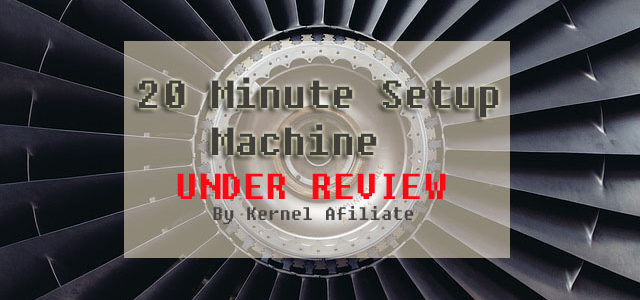 the 20 minute setup machine review