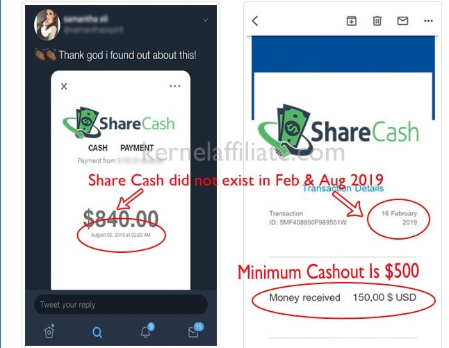ShareCash Payment Proof