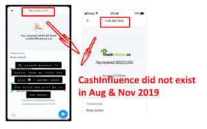 CashInfluence Payment Proof